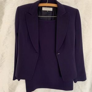Tahari Plum Skirt Suit